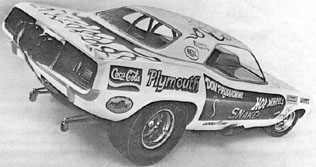 [Don Prudhomme's drag race car]